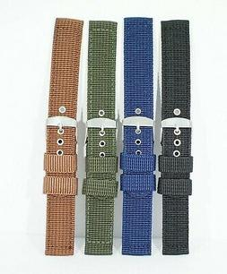 2 piece heavy duty woven nylon watch strap Fits many smartwa