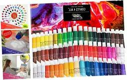 Acrylic Paint Set by Crafts 4 ALL Perfect for Canvas, Wood,