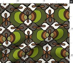African Inspired Wax Abstracted West Danish Fabric Printed b