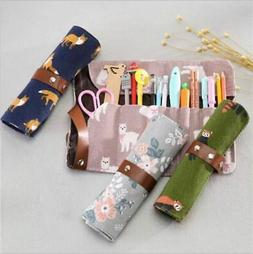 Animal Patterned Canvas Fabric Travel/Roll Up Organizer