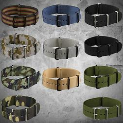 INFANTRY Army Sport Nylon Fabric Canvas Watch Strap Bands He