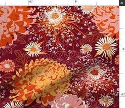 Asian Pattern Japanese Chinoiserie Chinese Fabric Printed by