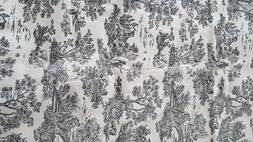 Black and White Original Design Mill Creek Fabrics Canvas  1
