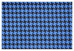 """Blue and Black Houndstooth Canvas Tweed Fabric 55""""W Seat Uph"""
