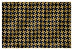"""Brown and Black Houndstooth Canvas Tweed Fabric 55""""W Seat Up"""
