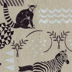 By 1/2 Yard Kokka Echino Canvas Fabric ~ Habitat in Natural