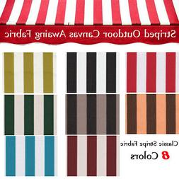 Canvas Awning Fabric STRIPED OUTDOOR FABRIC 600 Denier Outdo