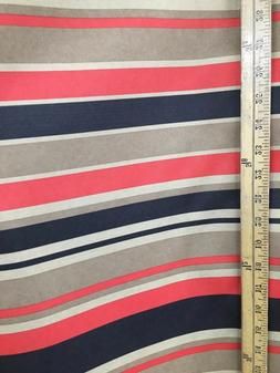 coral striped canvas fabric waterproof outdoor 600