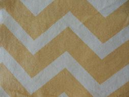 "RICHLOOM COTTON CANVAS CHEVRON GOLD/CREAM FABRIC 45"" X 1 3/4"