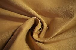 "Cotton Linen Fabric Gold  Canvas Soft Organic Apparel 55"" Wi"