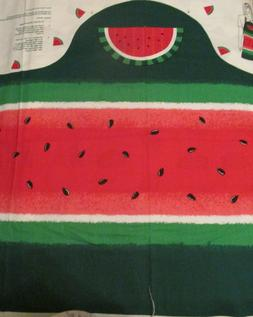 Fabric Traditions cotton panel APRON watermelon patch light