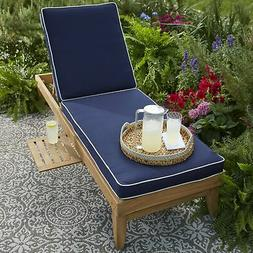 Deluxe Teak Hinged Chaise Cushion with Sunbrella Fabric -
