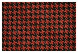"""Dk Red and Black Houndstooth Canvas Tweed Fabric 55""""W Seat U"""