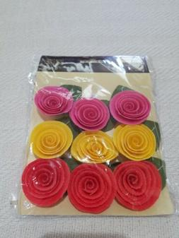 Recollections Embellishments Canvas Flowers 9 Pieces CE1