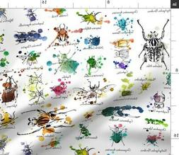 Entomology Julies S Beetles Insects Collection Fabric Printe