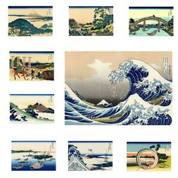 Great Wave Fuji Mountain Japan Paint Silk Canvas Poster Fabr