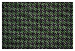 """Green and Black Houndstooth Canvas Tweed Fabric 55""""W Seat Up"""