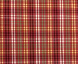 OUTDURA HAVEN SUNDANCE CANVAS PLAID RED GREEN OUTDOOR FABRIC