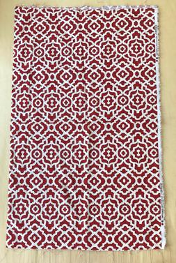 WAVERLY INSPIRATIONS Red Trellis Pattern Canvas Fabric 45""