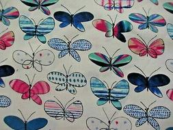 Japanese  Kokka Cotton Linen Canvas Fabric ~ BUTTERFLIES ~