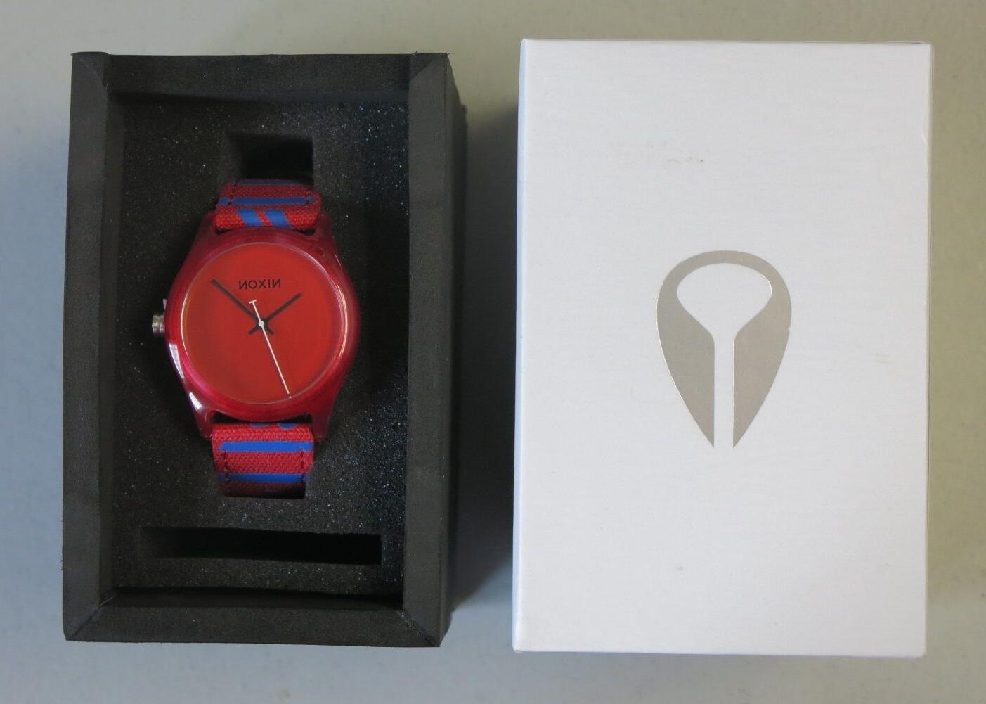 Nixon A402-200 Mod Red Dial Two Tone Leather Strap Women's W
