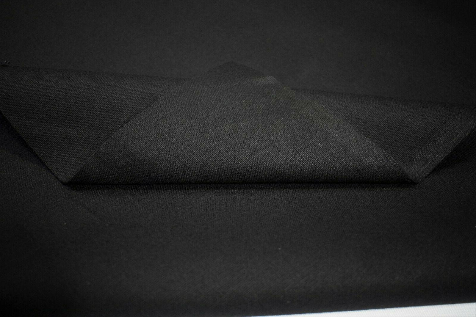 """Black 100% Water Replant Duck 10 61""""W Upholstery"""