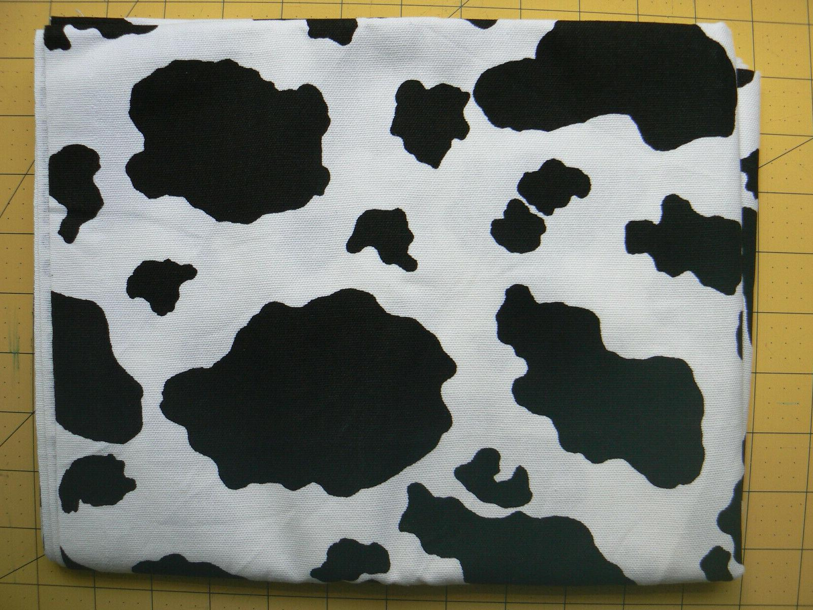 black and white cow print 100 percent