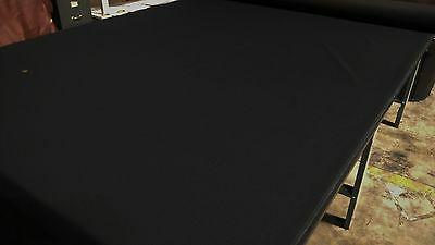 black automotive woven upholstery poly canvas fabric