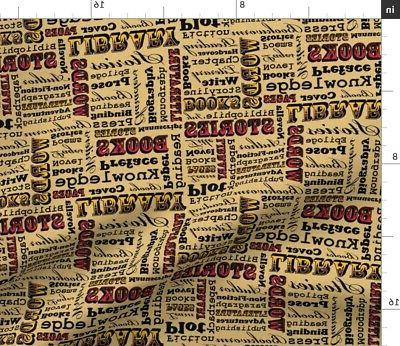 books library literature book novel typography fabric