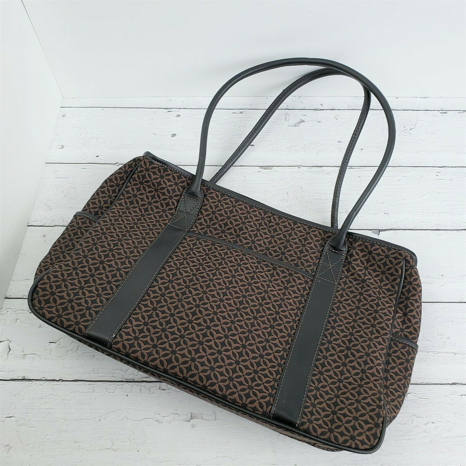 RELIC by FOSSIL Brown Laptop Tote Sleeve Compartments