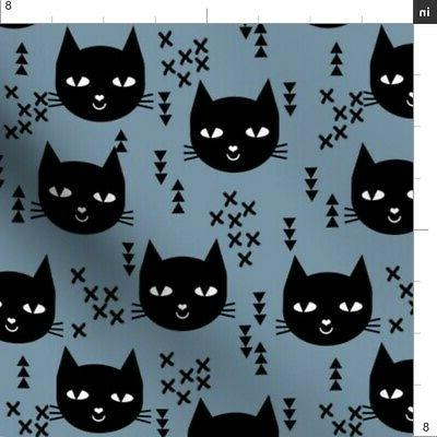 Cat Fabric Printed by BTY