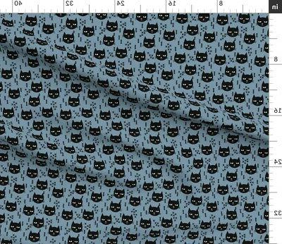 Cat Fabric by Spoonflower BTY