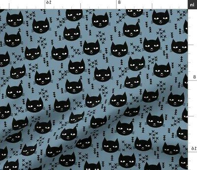 cat head nursery baby fabric printed by