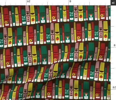 library librarian books reading literature fabric printed