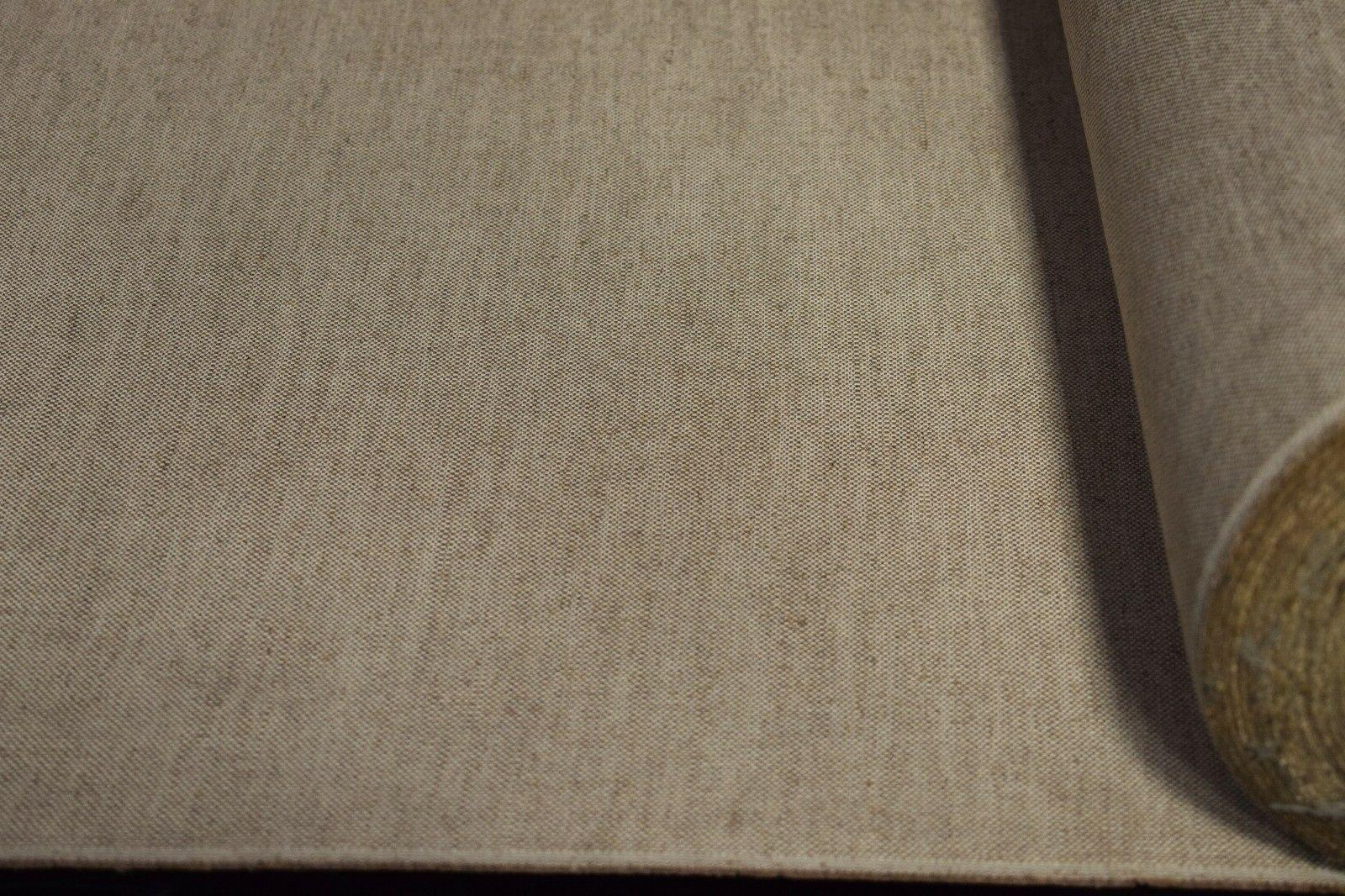 Oatmeal Beige Canvas Fabric Natural Wide