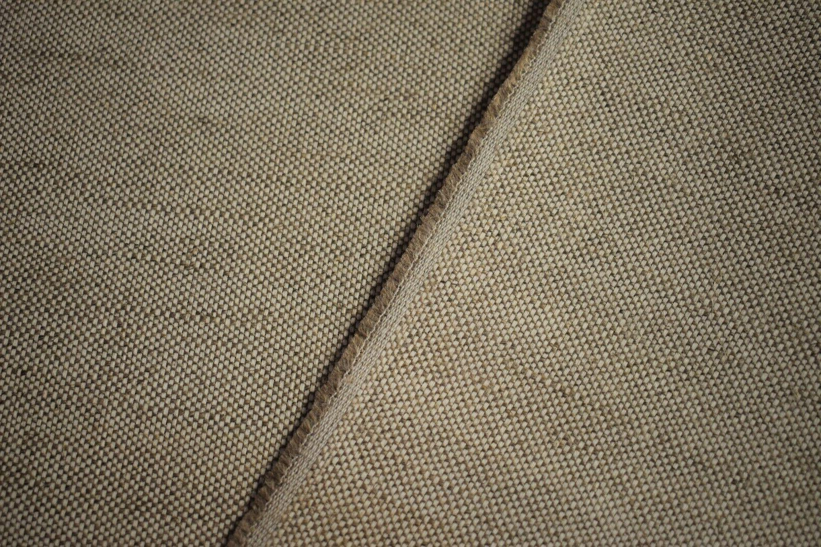 Oatmeal Canvas Blend Fabric Natural Wide SL-11