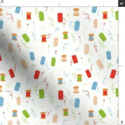 Sewing Hobby Needles Fabric by