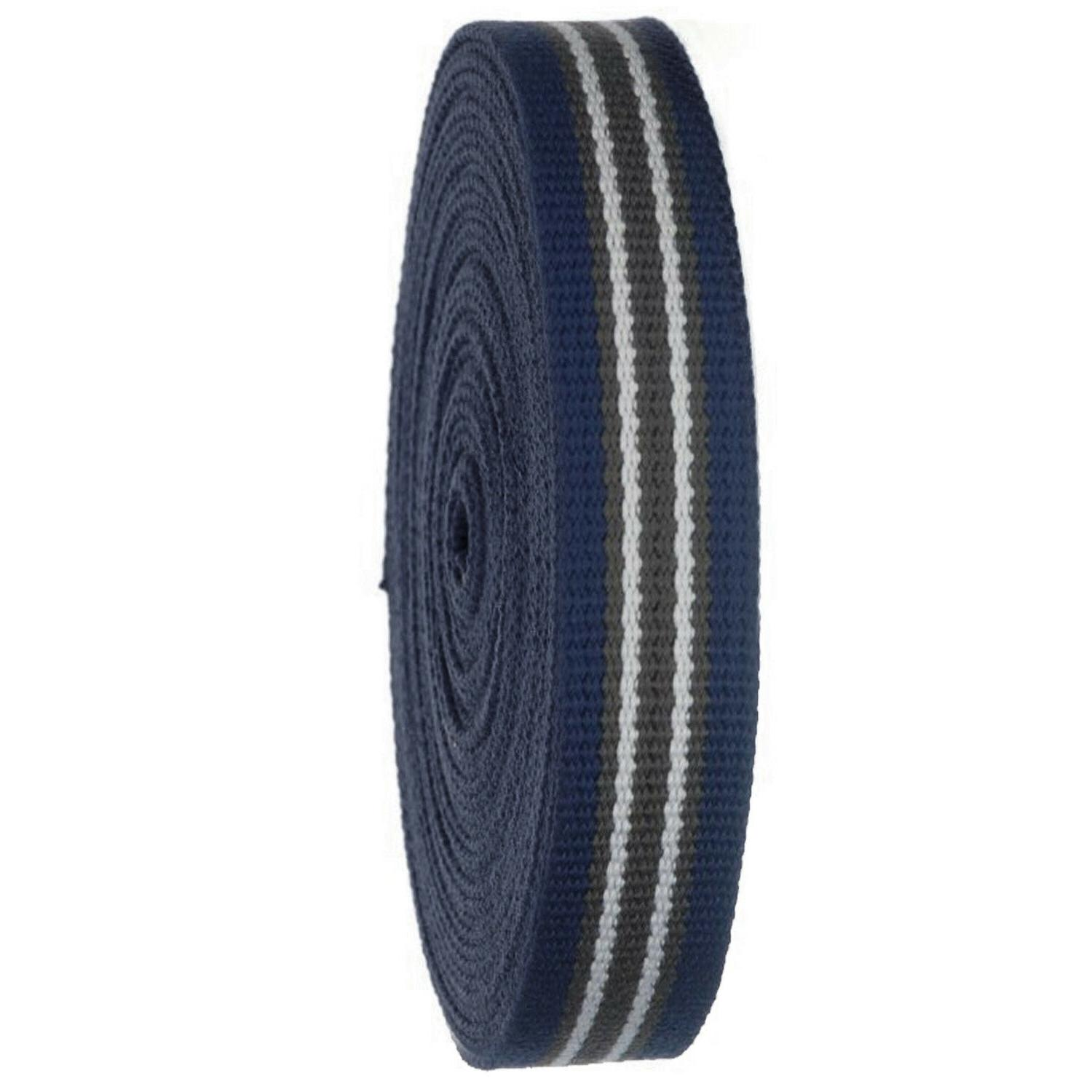 Striped Heavy Canvas Webbing Roll Strap Belts, Bags,