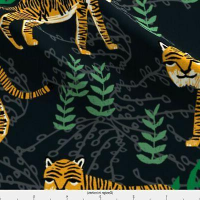 Tiger Print Fabric by Spoonflower