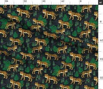 Tiger Animal Pattern Print Safari Fabric by Spoonflower