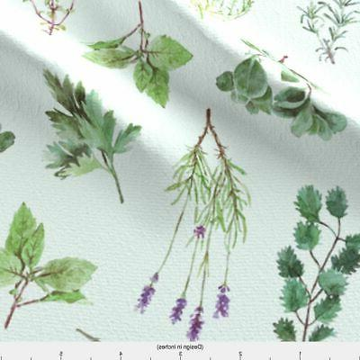 Watercolor Herb Garden Home by