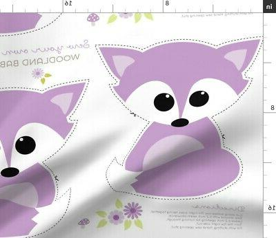 woodland fox baby plushie fabric printed by