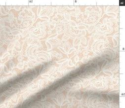 Lace Blush Fabric Printed by Spoonflower BTY