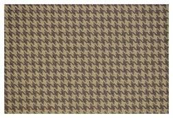 """Light and Dark Brown Houndstooth Canvas Tweed Fabric 55""""W Se"""