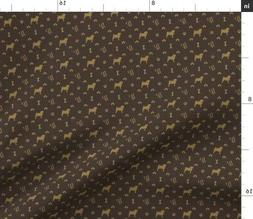 Louis Pug Face Luxury Dog Pattern Kennel Fabric Printed by S