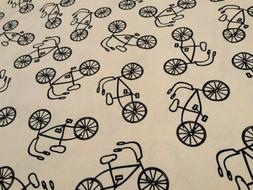 Moda~Lucy's Crab Shack~Twill  Fabric~Cream/Navy Bikes~by T