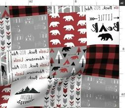 Lumberjack Buffalo Plaid Cheater Bear Deer Fabric Printed by