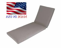 """Made in USA Outdoor Chaise Lounge Cushion Pad  26""""W"""