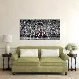 Michael Jordan Last Shot Canvas Printing Wall Art Home Decor