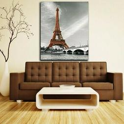 Modern Abstract Eiffel Tower Wall Art Canvas Painting Home D
